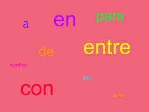 preposizioni spagnole