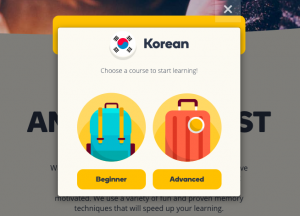 memrise - website to learn korean