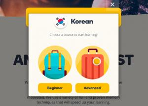 memrise - site Web pour apprendre le coréen