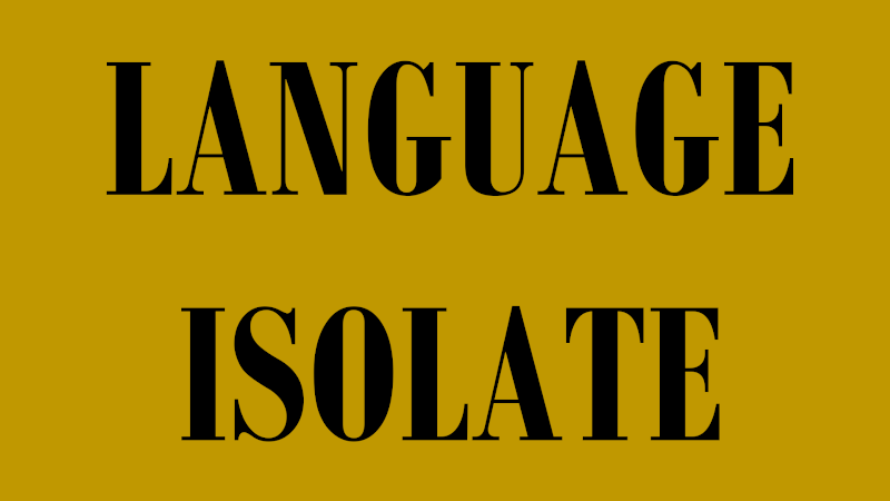 language isolate